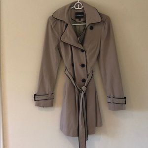 Express Jackets & Coats - Express- khaki belted trench coat